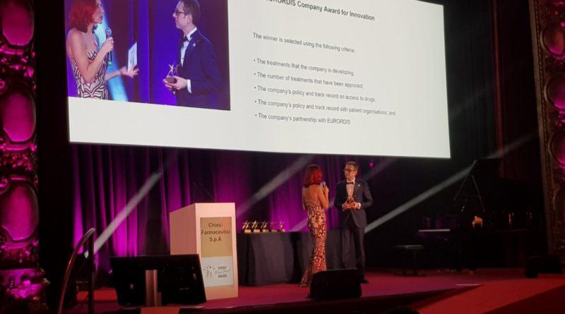 Il Gruppo Chiesi riceve il premio EURORDIS Black Pearl per l'innovazione nelle Malattie Rare